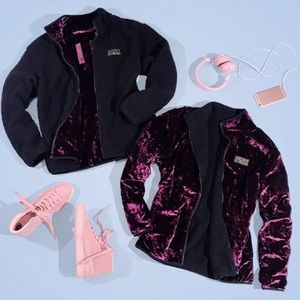 PINK limited release reversible zip jacket